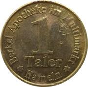 1 Taler - Berkel Apotheke (Hameln) – reverse