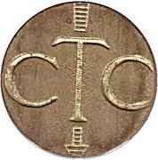 Telephone Token - CTC (cropped arrow, down) – obverse