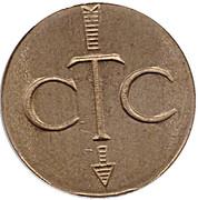 Telephone Token - CTC (whole arrow, down) – obverse