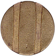 Telephone Token - CTC (arrow up; brass large type) – reverse