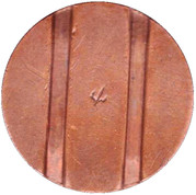Telephone Token - CTC (arrow down; bronze large type) – reverse