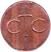 Telephone Token - CTC (arrow up; bronze large type) – obverse