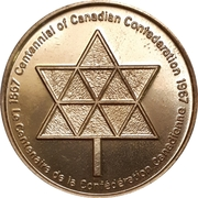 Token - Canada Centennial (Bucke Township, Ontario) – reverse