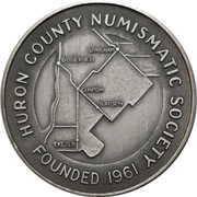 Medal - Huron County Numismatic Association – obverse