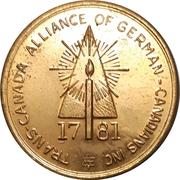Token - Canadian Centennial (Trans-Canada Alliance of German-Canadians) – obverse