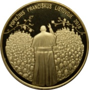 Token - Pope Francis in Lithuania – obverse