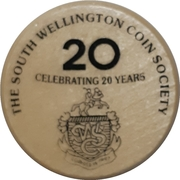 Token - South Wellington Coin Society (20th Anniversary) – reverse