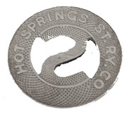 School Ticket - Hot Springs St. Ry. Co. (Hot Springs, Arkansas) – reverse