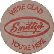 Wooden Nickel - Smitty's One cup of coffee – obverse