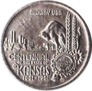 Token - Kansas Centennial (Johnson County) – obverse
