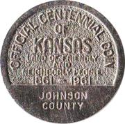 Token - Kansas Centennial (Johnson County) – reverse