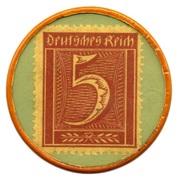 5 Pfennig (Dusseldorf) [Private, Leo Kropp] – reverse