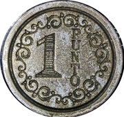Wash Token - 1 Punto (type 5) – obverse