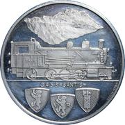 Token - 100 Year Anniv. Schmalspurbahn Railway – reverse