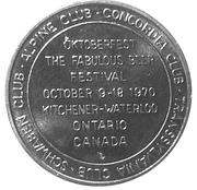 Token - Oktoberfest (Kitchener-Waterloo 1970) – reverse