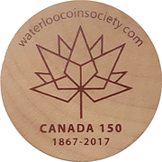 Token - Waterloo Coin Society (Canada 150) – obverse