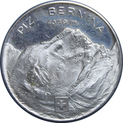 Medallion - First Ascent of the Bernina Mountain – obverse