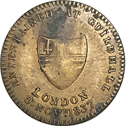Medal - Victoria (Entertained at Guildhall) – reverse