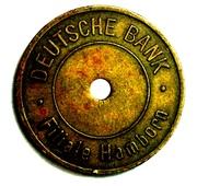 Token - Deutsche Bank (Hamborn) – obverse