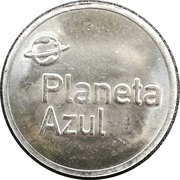 Car Wash Token - Planeta Azul – reverse