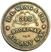 Civil War Store Card Token - D.L. Wing & Co. Union Flour (Albany, New York) – obverse