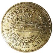 25 Cents - Emerald Lady Riverboat Casino (Blackhawk) – reverse