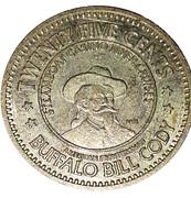 25 Cents - Emerald Lady Riverboat Casino (Buffalo Bill Cody) – obverse