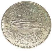 25 Cents - Emerald Lady Riverboat Casino (Buffalo Bill Cody) – reverse