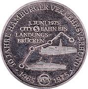 Token - Hamburg (10 years jubilee of the Hamburg traffic network) – obverse