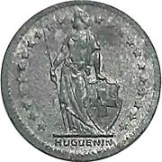1 Franc (Huguenin pattern) – obverse