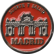 1 Euro Lucky Coin - Madrid (Red - Wealth and Happiness) – obverse