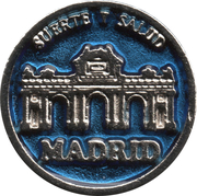 1 Euro Lucky Coin - Madrid (Blue - Wisdom) – obverse