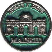 1 Euro Lucky Coin - Madrid (Green - Hope and calm) – obverse