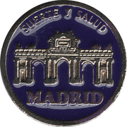 1 Euro Lucky Coin - Madrid (Purple - Serenity) – obverse