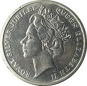 Token - Queen Elizabeth Royal Silver Jubilee – obverse