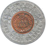 Encased Token - Lucky Penny Pocket Piece – reverse