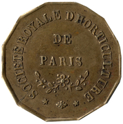 Token -  Société royale d'horticulture (Paris) – obverse