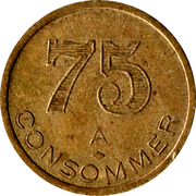 75 Centimes - A consommer – obverse