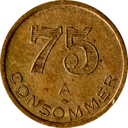 75 Centimes - A consommer – reverse