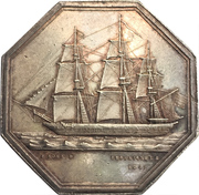 Jeton - Anonymous Company of Maritime Insurances of the Havre – obverse