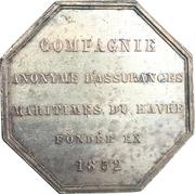 Jeton - Anonymous Company of Maritime Insurances of the Havre – reverse