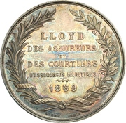 Token - Maritime insurance and stockbrokers lloyd (Marseille) – reverse