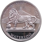 Token - Waterloo 1815-2015 – reverse
