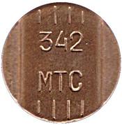 Telephone Token - MTS 342 (Perm) – obverse