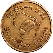 Titletown Token - Green Bay Transit – obverse