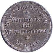 Gas Token - Wertmarke  für Münzgasmesser (Breslau) – obverse