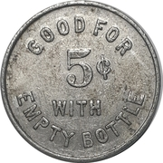 5 Cents - Queen-O (Buffalo, New York) – reverse