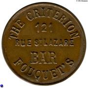 Token - The Criterion - Fouquet's Bar – obverse