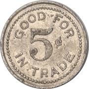 5 Cents - John Konko Restaurant (Dunkirk, New York) – reverse