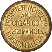 50 Cents - Frontier Novelty and Cigar (Niagara Falls, New York) – obverse